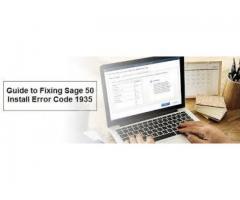 Sage 50 Installation Error code 1935